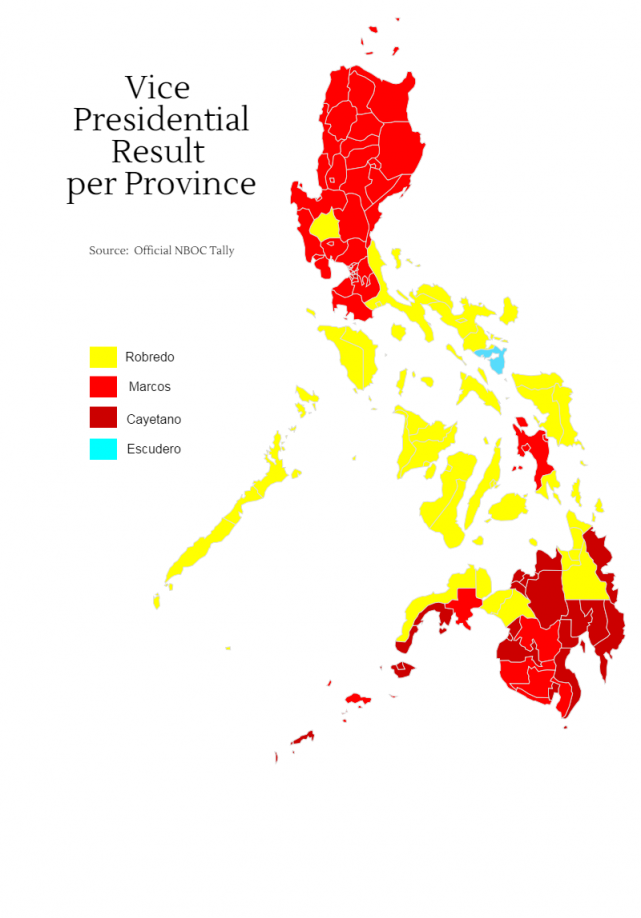 How the provinces voted for president, VP | News | GMA News Online