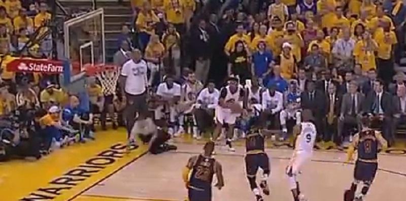 NBA ref hits the floor as Leandro Barbosa hits three ...