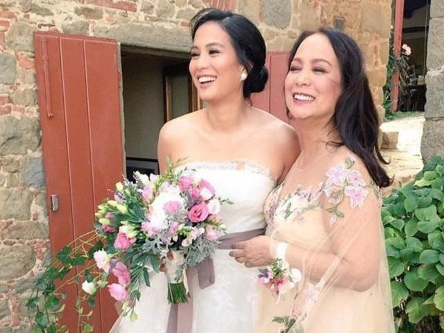 Gloria Diaz a classic beauty at daughter Isabelle's wedding