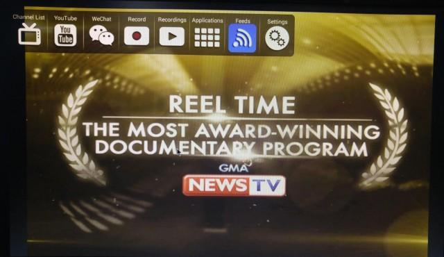 Watching GMA News TV on the receiver