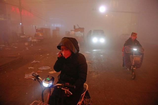 Image result for Lunar New Year fireworks spark a return to hazardous Beijing pollution