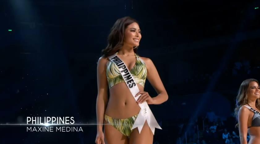 36d921d432f98 Maxine dazzles in green swimsuit in Miss Universe prelims ...