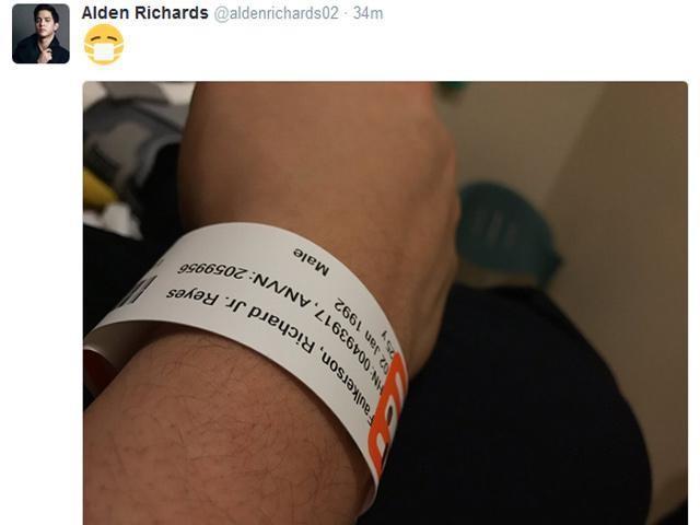Image result for alden richards in the hospital