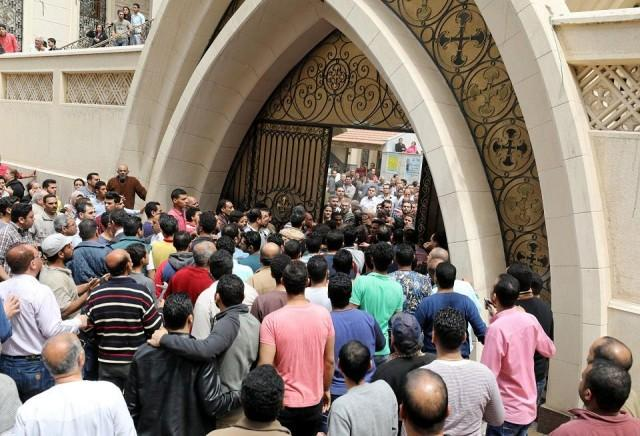 Image result for Hundreds gather at attacked Egyptian church to mourn bombing dead