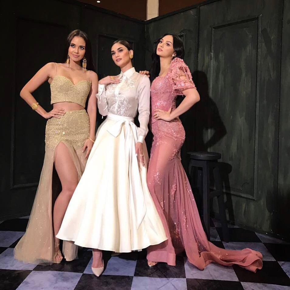 Beauty queens Pia, Kylie and Megan slay the red carpet in modern ...