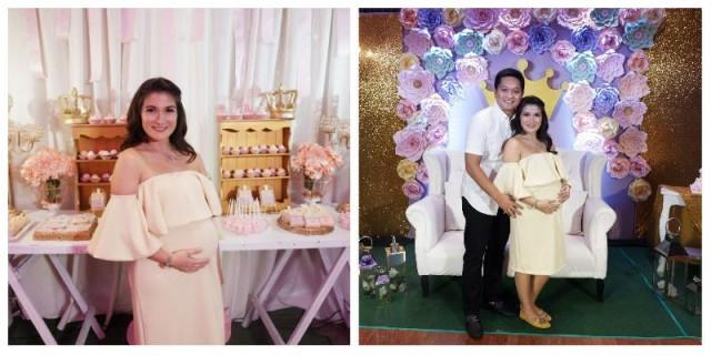 Camille Prats has an all-pink princess-themed baby shower | Showbiz ...