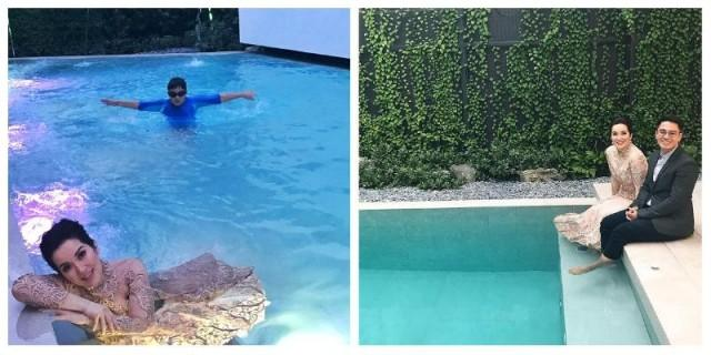 Kris Aquino takes a plunge in a pool wearing...an evening gown ...