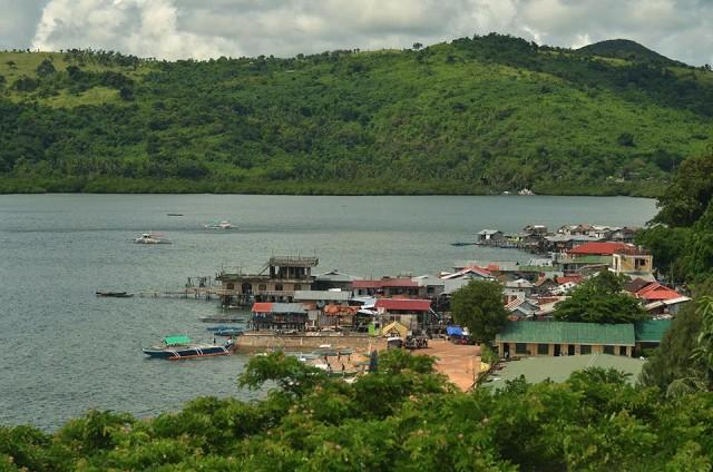 A view of Culion's port from the fort-turned-lighthouse