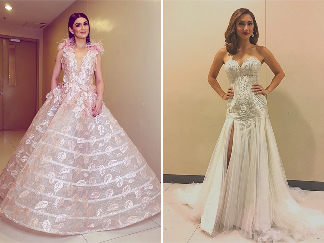 Hosts Carla, Iya stood out in glitzy frocks during Miss World PHL ...