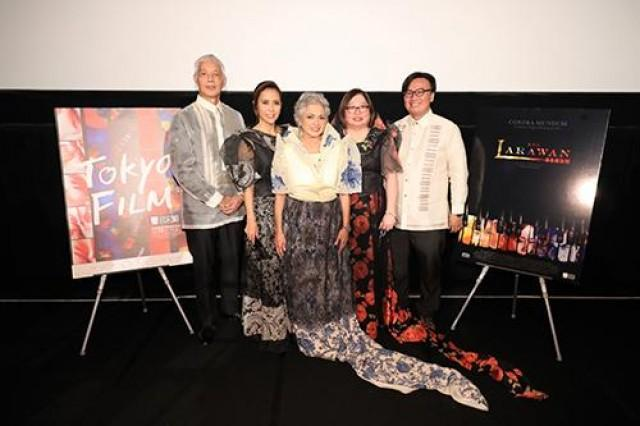 The team of 'Ang Larawan' L-R: Loy Arcenas (director), Rachel Alejandro (actress and executive producer), Celeste Legaspi (actress and executive producer), Girlie Rodis (producer) and Alemberg Ang (producer).