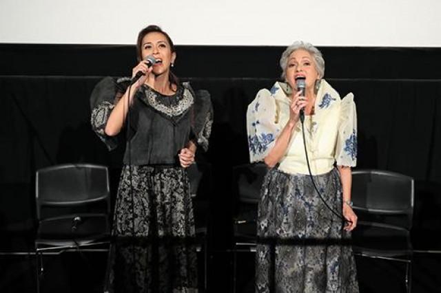 Actors and executive producers of 'Ang Larawan' Rachel Alejandro and Celeste Legaspi at the Tokyo International Film Festival