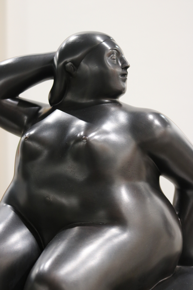 One of Fernando Botero's scuptures at SAW 2018