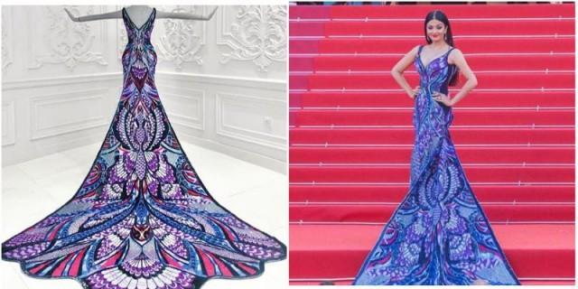 Bollywood Star Aishwarya Rai Wears A Gorgeous Michael Cinco Gown At
