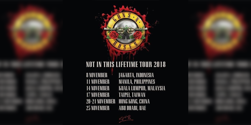 Guns N Roses To Perform In Phl For Their Notinthislifetimetour