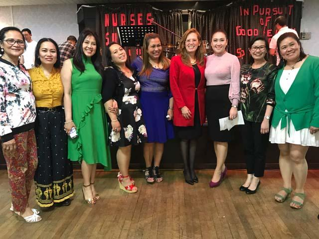 Nurses from NorthEast England with guest speaker Rev. Ana Karen Perez (4th from right)