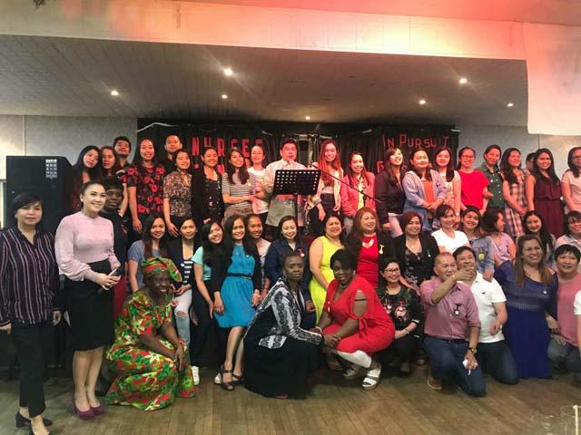 Group photo of all the nurses following the awarding/recognition.
