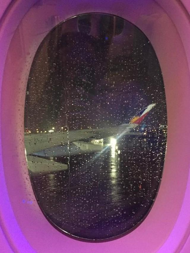 """Tip: Book A or K seats between rows 36 to 56 in economy to appreciate PAL's """"sunriser"""" livery on the inner winglet for that Instagram-worthy shot. Only the A350 has the Philippine colors on the inner winglet in the whole PAL fleet."""