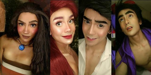 An artist from Cavite wows netizens with his makeup