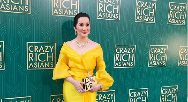 Kris Aquino ended up wearing a beautiful yellow gown by Michael ...