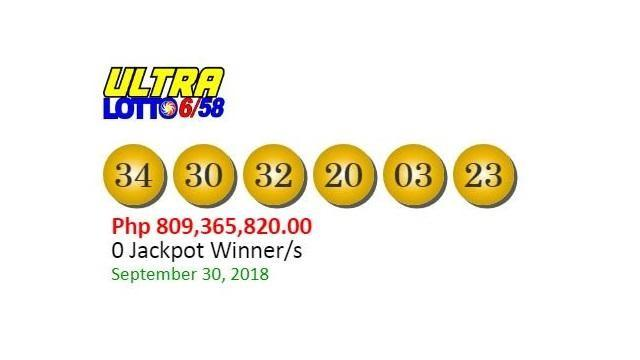 6 58 ultra lotto prizes today