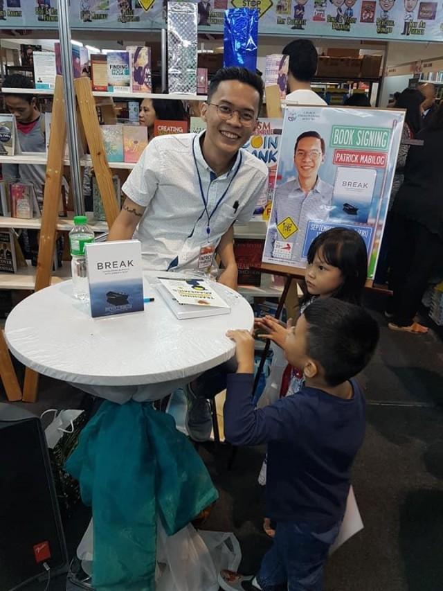 Patrick Mabilog at the Manila International Book Fair earlier this month. Photo: Bernadette Parco