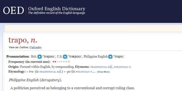 Trapo Bongga More Filipino Words Added To Oxford English
