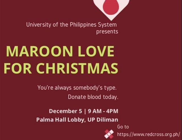 Christmas Blood Drive.Maroon Love For Christmas Blood Donation Drive Set For