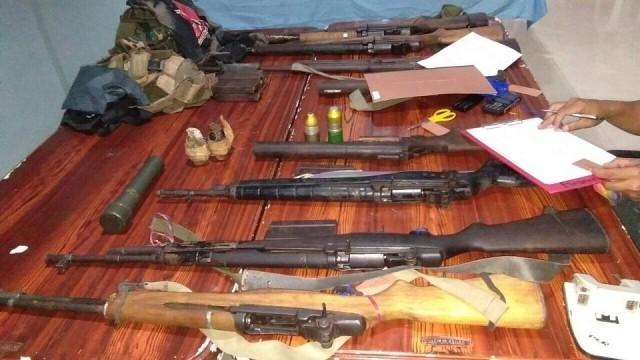 Five members of the New People's Army surrendered in Sarangani with their weapons on November 23, 2018, the military said Sunday. Photo: 27th Infantry Battalion