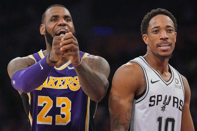4a4b973880ae LeBron scores 42 as Lakers rally past hapless Spurs