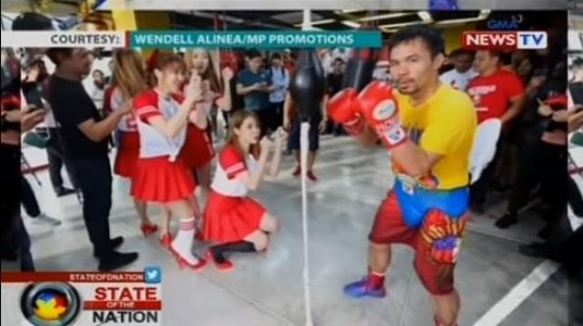 Pacquiao gets a visit from Kpop group Chic Angel | Sports