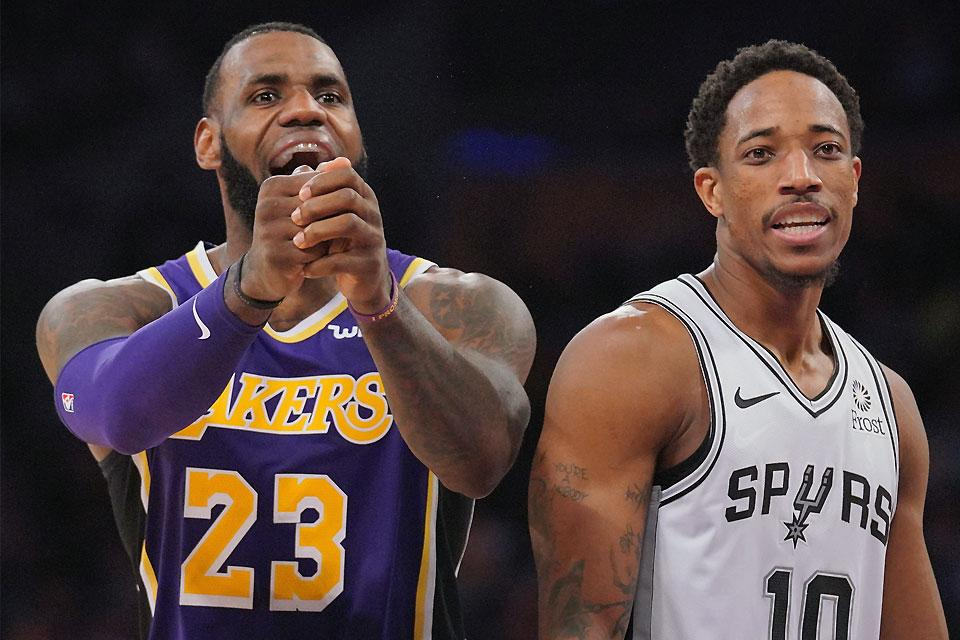 new product 456fa 3a623 LeBron scores 42 as Lakers rally past hapless Spurs | Sports ...