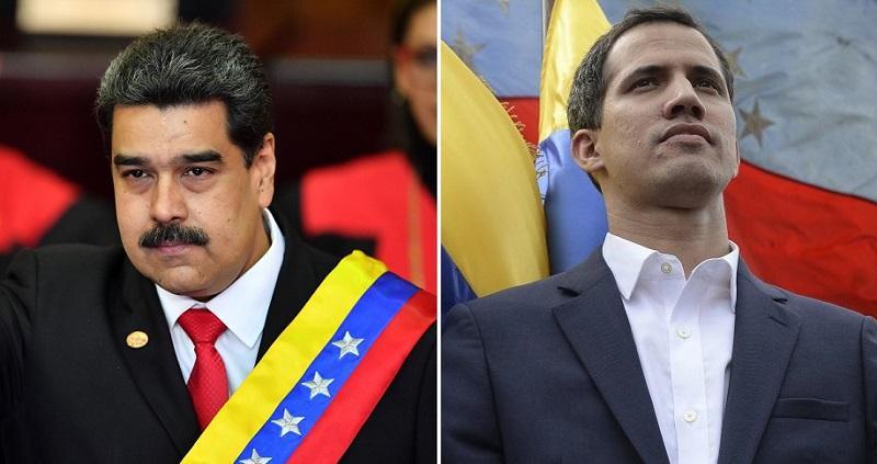 Resultado de imagem para Maduro e guaido