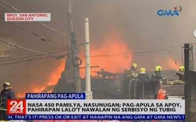 450 families lose homes in QC fire | News | GMA News Online