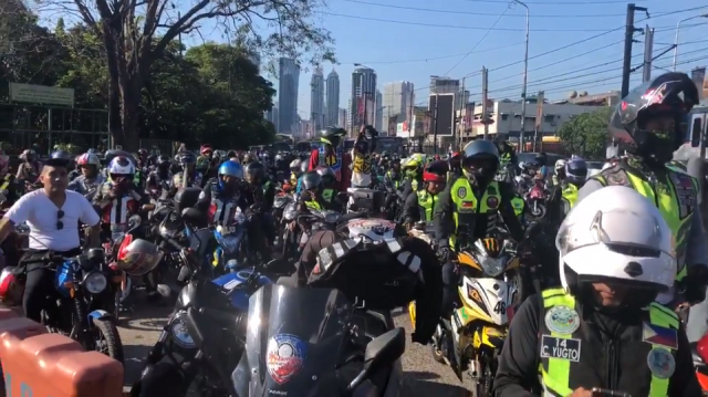 Palace tells motorcycle riders to question 'doble plaka' law in