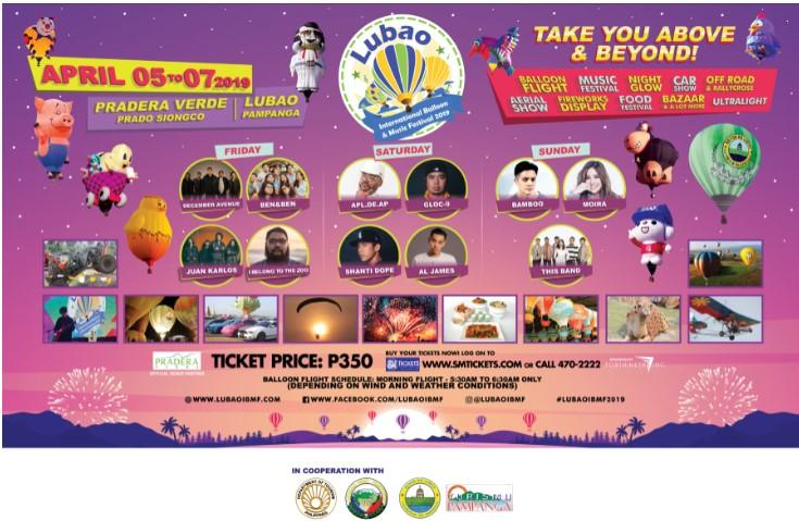 Lubao International Balloon and Music Festival 2019 set in April