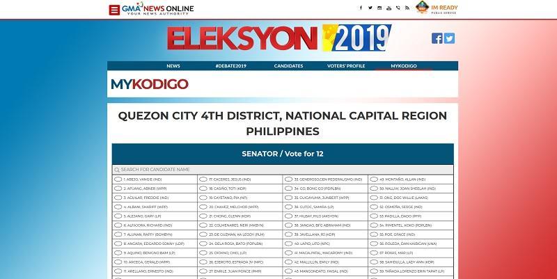 Eleksyon 2019: GMA News Online's MyKodigo allows users to