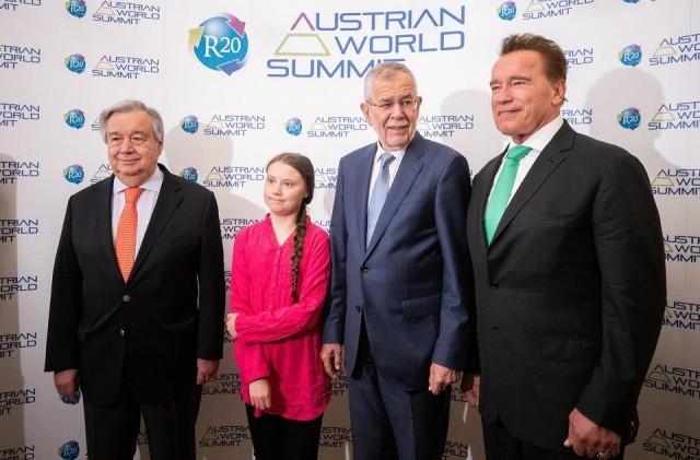Teen Activist Thunberg Joins Schwarzenegger In Call For Climate