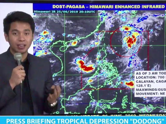 TD Dodong stays on northeast path, to exit PAR Wednesday —PAGASA
