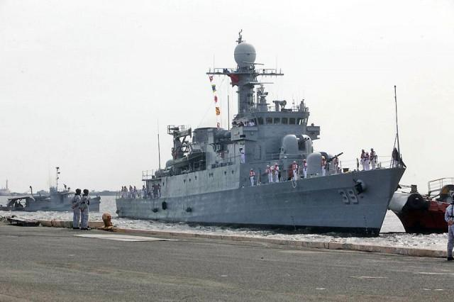 The BRP Conrado Yap (PS 39), the Philippine Navy's newest vessel, prepares to dock at Pier 13 in Manila on Tuesday, August 20, 2019. The ship is the Navy's first modern Pohang-class corvette ship and its most heavily-armed unit made in Korea. Danny Pata