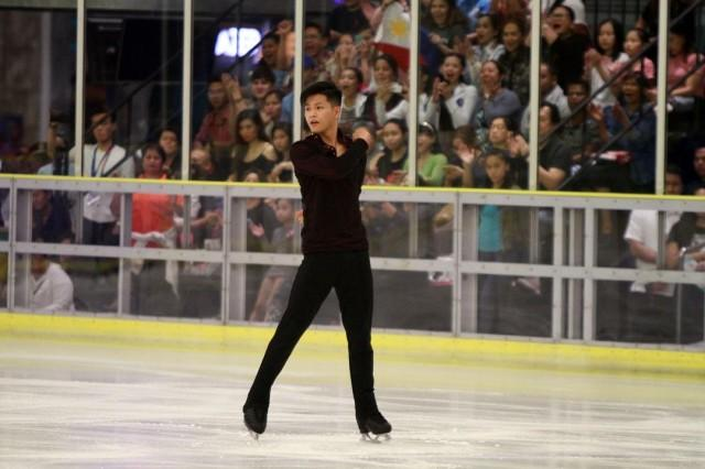 Edrian Celestino finished third in the short program with 61.52 points in the Men's Free Skating Competition in the 30th Southeast Asian Games held at SM Megamall in Mandaluyong City on Sunday, December 1, 2019.. Photo by Danny Pata