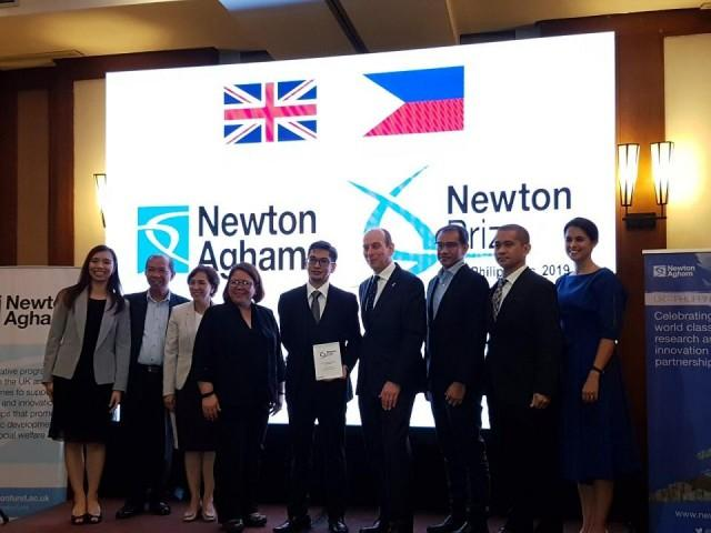 Promentilla and his team of researchers won the 2019 Newton Prize Philippines Award