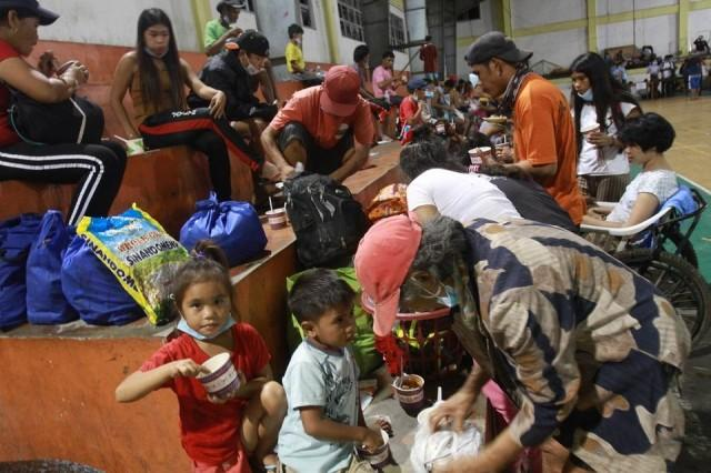 Taal residents stay at an evacuation center in Talisay, Batangas after Taal Volcano's phreatic eruption on Sunday, January 12, 2020. DANNY PATA