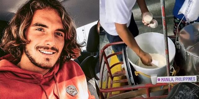 Greek Tennis Sensation Stefanos Tsitsipas Arrives In Manila Eats Taho First Thing