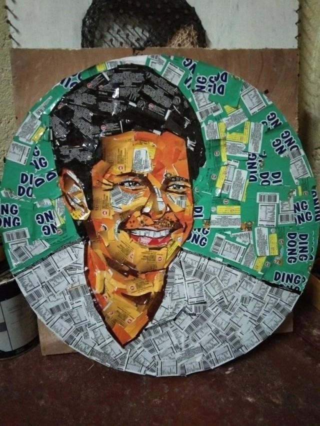 This guy makes Dingdong Dantes art using Ding Dong nuts ...
