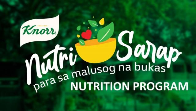 The Knorr Nutri-Sarap program aims to educate and empower families on nutritious eating and cooking through a 21-day nutrition plan