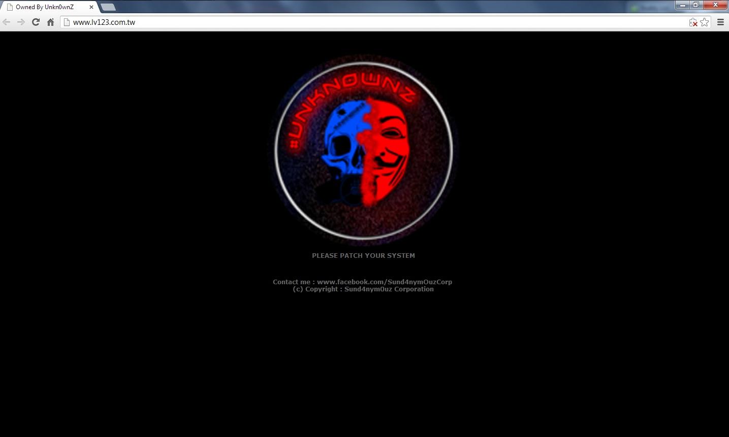 Defaced Taiwan websites | Photos | GMA News Online