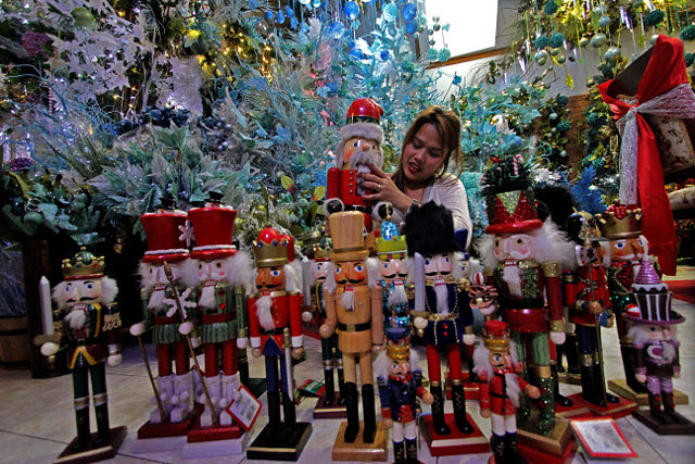 nutcracker toys on display for xmas shoppers at tayuman store