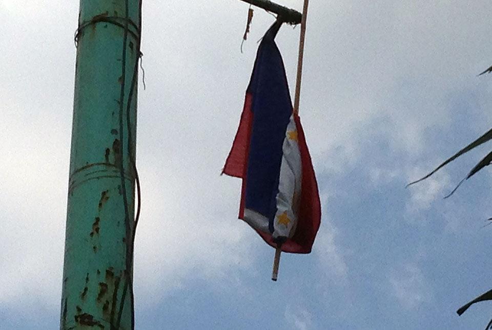 Worn out PHL flag seen in Rizal town   Photos   GMA News ...