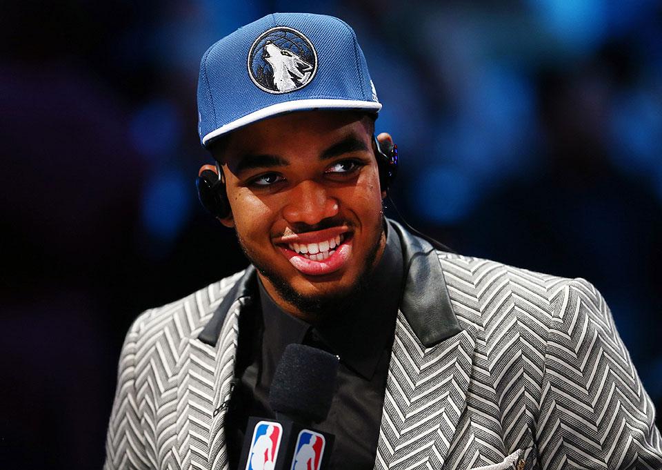 NBA 2015 Draft: Timberwolves pick Karl-Anthony Towns ...