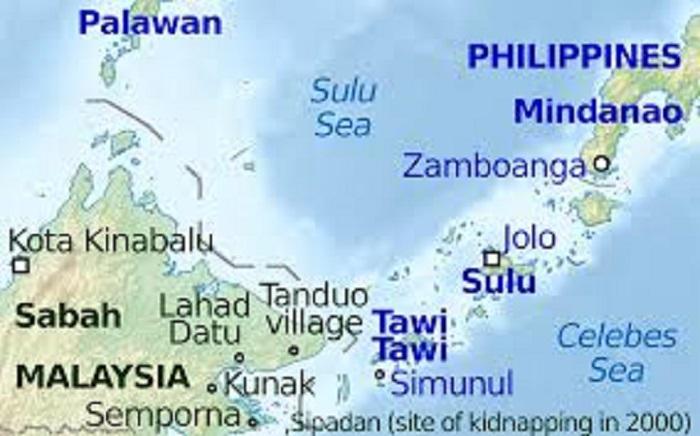 Sabah Tawi tawi map